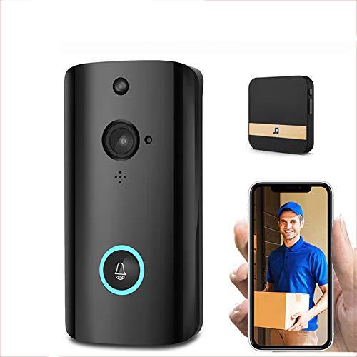 LNLJ Video Deurbel, Draadloze 720P HD WIFI Beveiligingscamera, Real-Time Twee-weg Gesprek, Nachtzicht, PIR Bewegingsdetectie