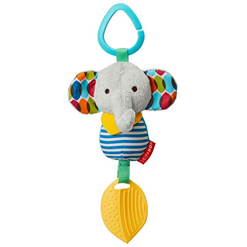 Skip Hop Bandana Buddies Baby Activity Chime & Teether Stroller Toy, Elephant