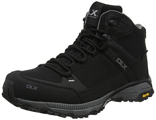DLX Herren Renton Trekking-& Wanderhalbschuhe, Schwarz (Black Black), 45 EU
