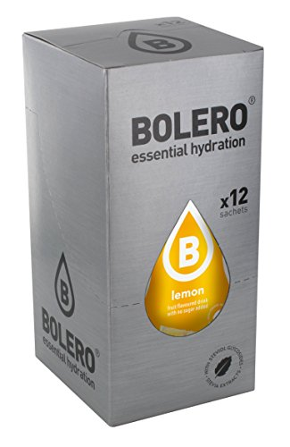 Bolero Bebida Instantánea sin Azúcar, Sabor Limón - Paquete de 12 x 9 gr - Total: 108 gr