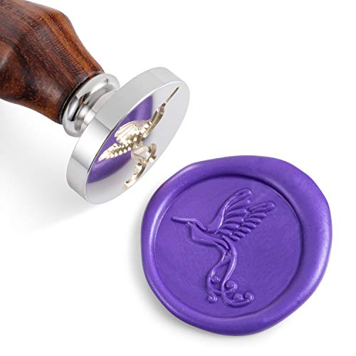 Mceal Wax Seal Stamp,Silver Brass Head with Rosewood Handle, 1.2