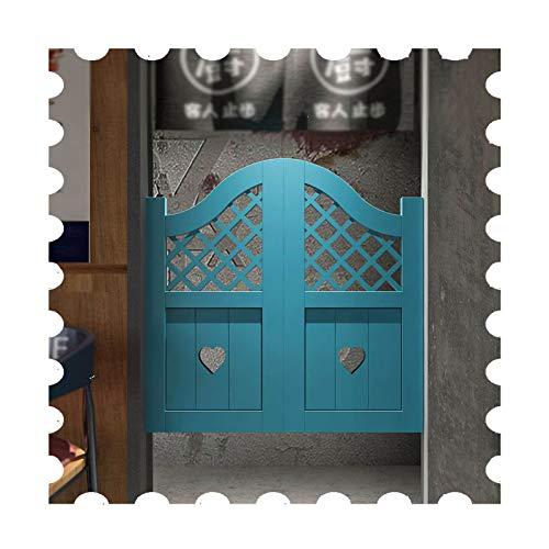 JIANFEI Cafe Puertas Contrapuertas, con 4 Bisagras/2 Postes De Puerta, Madera Maciza Decoración Puerta De La Cerca por Bar Cocina, Automático Apagar, Personalizable (Color : White, Size : 100x70cm)