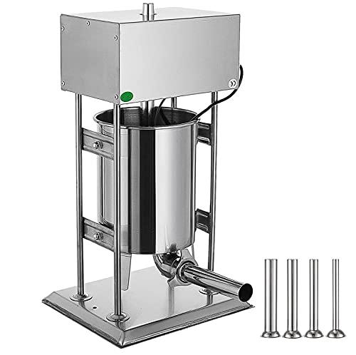 WANYE Máquina de llenado de Salchichas, máquina de llenado de Carne Vertical con Varios Controles de Velocidad, máquina de llenado de Salchichas de Acero Inoxidable, con 4