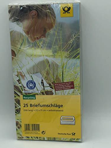 Deutsche Post 25 Umschläge DIN lang/g. sk oF. Blauer Engel