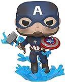 - Pop Marvel: Endgame-Captain America w/BrokenShield & Mjolnir Capt A w/BrokenShield&Mjolnir Colctib...