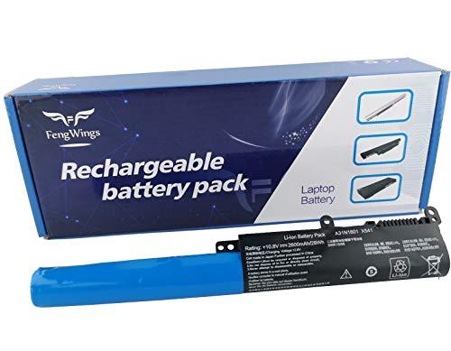 FengWings® 10.8V 2600mAh A31N1601 A31LP4Q Reemplace batería Compatible con ASUS Vivobook F541 F541N F541NC F541U F541UA F541UJ F541UV X541 X541N X541NA X541S X541SA X541SC X541U X541UA X541UJ
