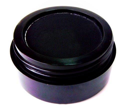 THE ORIGINAL Pure Ziva Jet Matte Black Onyx Midnight Wet Dry Pressed Powder Cake Eyeliner Eyeshadow Mascara HD Professional Wing Eye Liner, No Smudge, Dark Pigment, Gluten Free, Cruelty Free & Vegan