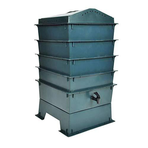 Oushome Compostiera Vermifuga a 4 Vassoi 42x42x60 cm