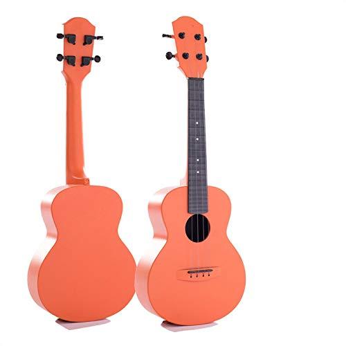 KEPOHK Ukelele de fibra de carbono de 23 `` ukelele de 4 cuerdas Mini ukelele de concierto para principiantes y niños 23 pulgadas naranja