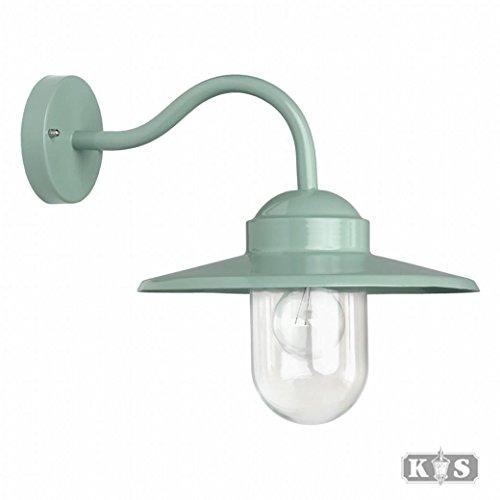 Hoflampe Dolce - Wandleuchte aus Aluminium im Landhausstil, ohne Bewegungsmelder & Leuchtmittel - Für Hof & Garten - Halogen & LED - Max. 60W, Grün