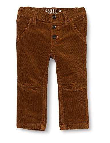 Sanetta Baby-Jungen Webhose Cognac Dunkelblaue Cordhose Kidswear, braun, 080