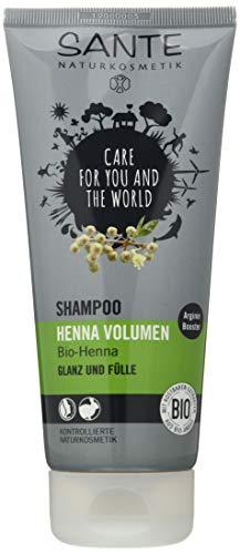 SANTE Naturkosmetik Shampoo Henna Volume, Glanz & Fülle, Kräftigt die Haarstruktur, Tägliche Pflege, 1x200ml