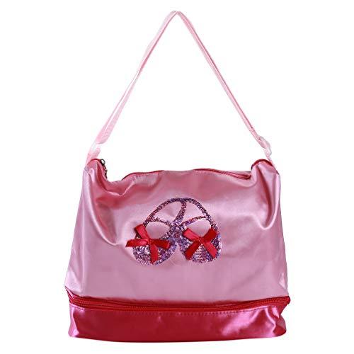 Kingus Princess Ballet Dance Tragetaschen Double Layer Compartment Ballerina Handtasche für Tutu Dress Shoes Hausschuhe
