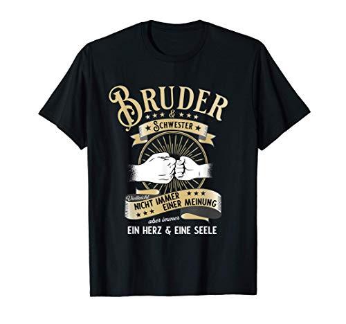 Bruder und Schwester Geburtstag Geschenk T-Shirt