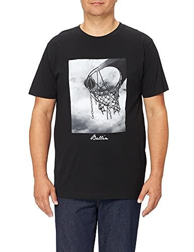 Mister Tee Nkfhappy Penina Sweat BRU LIC Camiseta, Negro (Black 00007), Large para Hombre