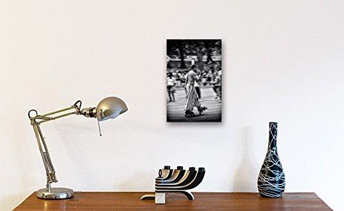 Alu Print - A4 20x30 cm hochwertiges Alu-Dibond Bild - Wandbild Kunstdruck Street Art Rollerblades Central Park New York