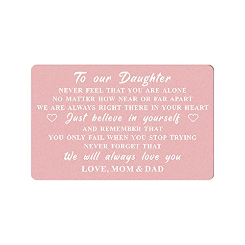 To Our Daughter Gifts Wallet Card from Mom and Dad, Daughter Wedding...