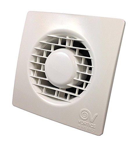 Vortice Aspiratore Elicoidale Ventilatore Punto Filo per ricambio aria bagno con valvola anti ritorno 220 240 V 50 Hz (11123 (Diametro Nominale Condotto 100 mm))