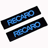 AEVEILS 2pcs Almohadilla del Cinturón De Seguridad Extraíble Lavable para Recaro Racing, Material de Gamuza Suave Cómoda para Proteger Su Cuello Hombros