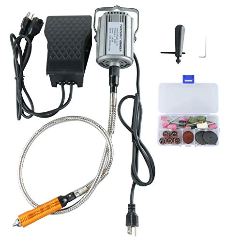 1/4' HP Flex Shaft Hanging Grinder, Multi-function 780W 23000 RPM Rotary Tool Repair Kit with Foot Pedal Control (780W)