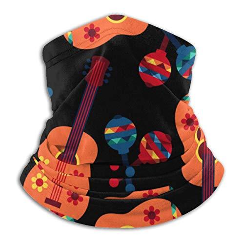 IUBBKI Xzshop patrón de guitarra colorido suave microfibra cuello calentador adecuado para deportes al aire libre bufanda de montar