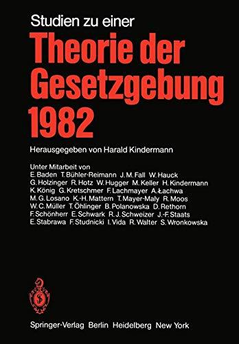 Studien zu einer Theorie der Gesetzgebung 1982