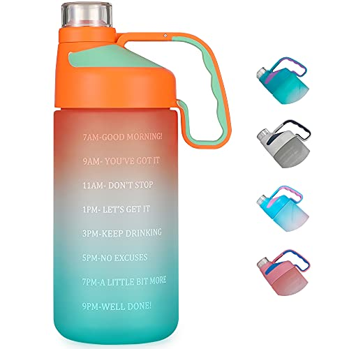 EAILGORL Water Bottles with Motivational Time Marker & Straw...