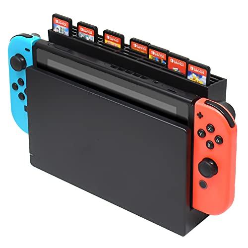 Caja de Almacenamiento para Tarjetas de Juego para Nintendo Switch Dock, Caja de Almacenamiento con 28 Ranuras para Tarjetas de Juego para Nintendo Switch Game Card