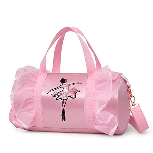 PER Ballet Princess Dance Bag Cross-Body Bags Shoulder Bags For Ballerina Dancer Girls-Pink