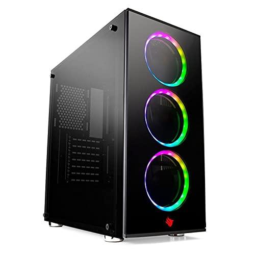 CPU PC GAMER I5, 8GB, GTX 1050 TI 4GB, SSD 240GB, GABINETE GAMER 3 FANS RGB, PROMOÇÃO BLACK FRIDAY HERTZ INFORMATICA