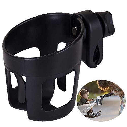 Wodesid porta vasos para cochecitos, 360 grados Rotación universal Soporte para botellas ajustable y adecuado para la mayoría de los cochecitos Sillas de ruedas Rollers Bicicleta