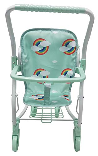 Roma Rupert Toy Shopping Trolley Suitable from 24 months - mint Roma The Rupert shopping trolley measures 62cm from the floor to the handle. Removable Shopping basket Available in primrose or mint - Unique Rainbow Design 5