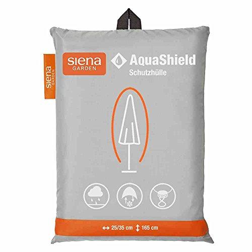 Siena Garden AquaShield Schirmschutzhülle, silber-grau, mit Active Air System, 165x35x165cm