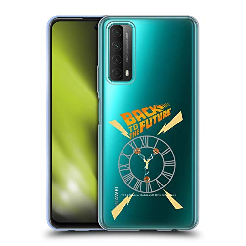Head Case Designs Oficial Back to The Future Torre del Reloj I Gráficos Carcasa de Gel de Silicona Compatible con Huawei P Smart (2021)