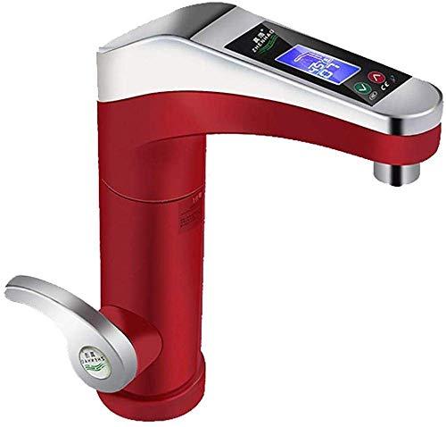 LXYZ Calentador de Agua para Grifo eléctrico rápido Caldera Calentador de Agua instantáneo pequeño Calentador de Agua eléctrico Eléctrico, Rojo