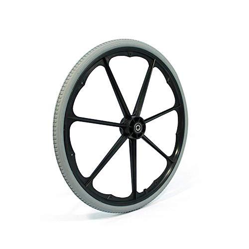 "Invacare 1026363 24"" Pneumatic Flat Free Composite Wheelchair Wheel"