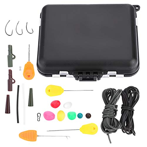 OhhGo Carp Vissen Tackle Box Kit Vissen Accessoires Kit Outdoor Visserij Gear gewichten Clips Baiting naalden haak Swivel Rig Set