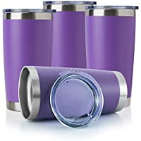 4-Pack Domicare 20 Oz. Stainless Steel Tumbler with Lid