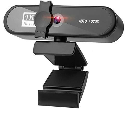 Webcam 1080p 2K 4K Conferencia PC Webcam AutoFocus USB cámara Web Laptop Desktop For Office Meeting Home con Mic 1080P HD Web CAM Webcam con Microfono para Pc (Color : 1080P with Tripod)