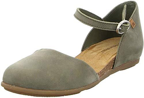 El Naturalista ND54 Stella Femme Sandale à lanières,Sandales,Sandales à lanières,Chaussures d'été,Confortable,Plat,Kaki,37 EU / 4 UK