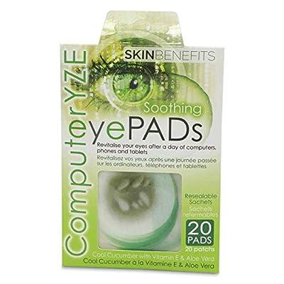 Computer Eyes - Cool Cucumber Eye Pads by Amirose London Ltd