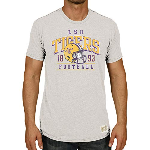 Original Retro Brand NCAA T-Shirts Arch Over Helmet Design (LSU Tigers, X-Large)