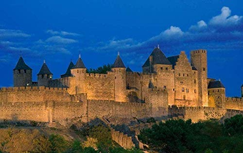 puzzles 1000 pieces intellectual paintings puzzleLanguedoc Carcassonne Castle gift for lovers game toys gift