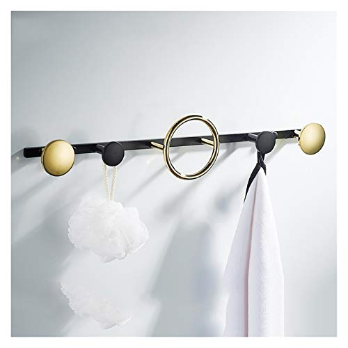 Perchero de pared Negro Oro Escudo de montaje en pared ganchos de la luz de lujo Gancho for colgar de la pared de la pared creativa moderna columna de ganchos ropa del gancho Gancho Gancho Percha de p