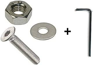 , 4 Pack 12 mm tornillos de cabeza// tuercas y arandelas M 12 x 30 mm acero inoxidable A2 llave Allen de cabeza redonda
