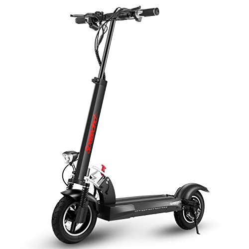 Speedrid 500W Foldable Electric Scooter for Adults, Max Range 38 Miles 10' Commuting E Scooter with 36V 20Ah Large Capacity Battery, Dual Shock Absorption & Brakes