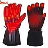 Rabbitroom Winter Electric Heated Gloves Battery Power Heating Gloves Touchscreen Texting Warm Thermal Gloves for Hiking Skiing Hunting Hand Warmer (3.7V Li-ion Battery Gloves)
