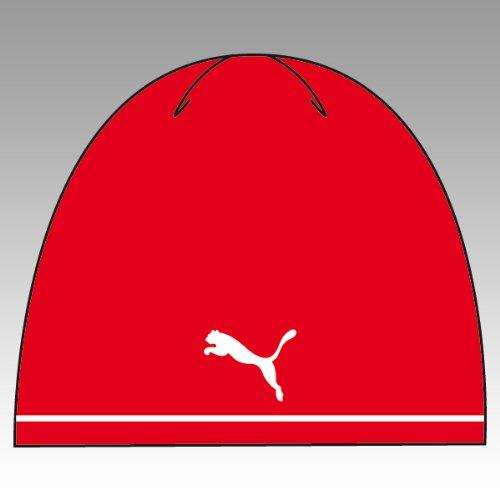 Puma Herren Beanie red-White, Weiß, Einheitsgröße