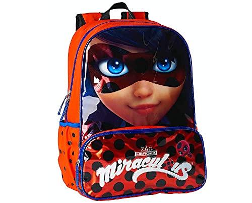 Miraculous Ladybug Mochila para Niña  Escolar Grande  Bolsa de Viaje Infantil  Incluye