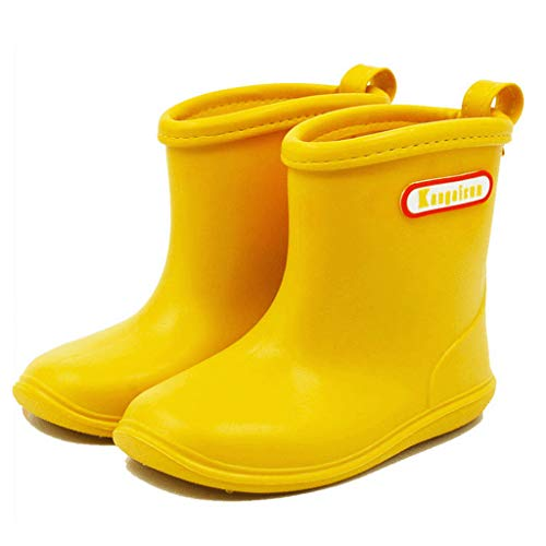 Girls' Boots Boys' Rubber Rain Shoes Kids Waterproof Wellington Wellies for 1-6 Years